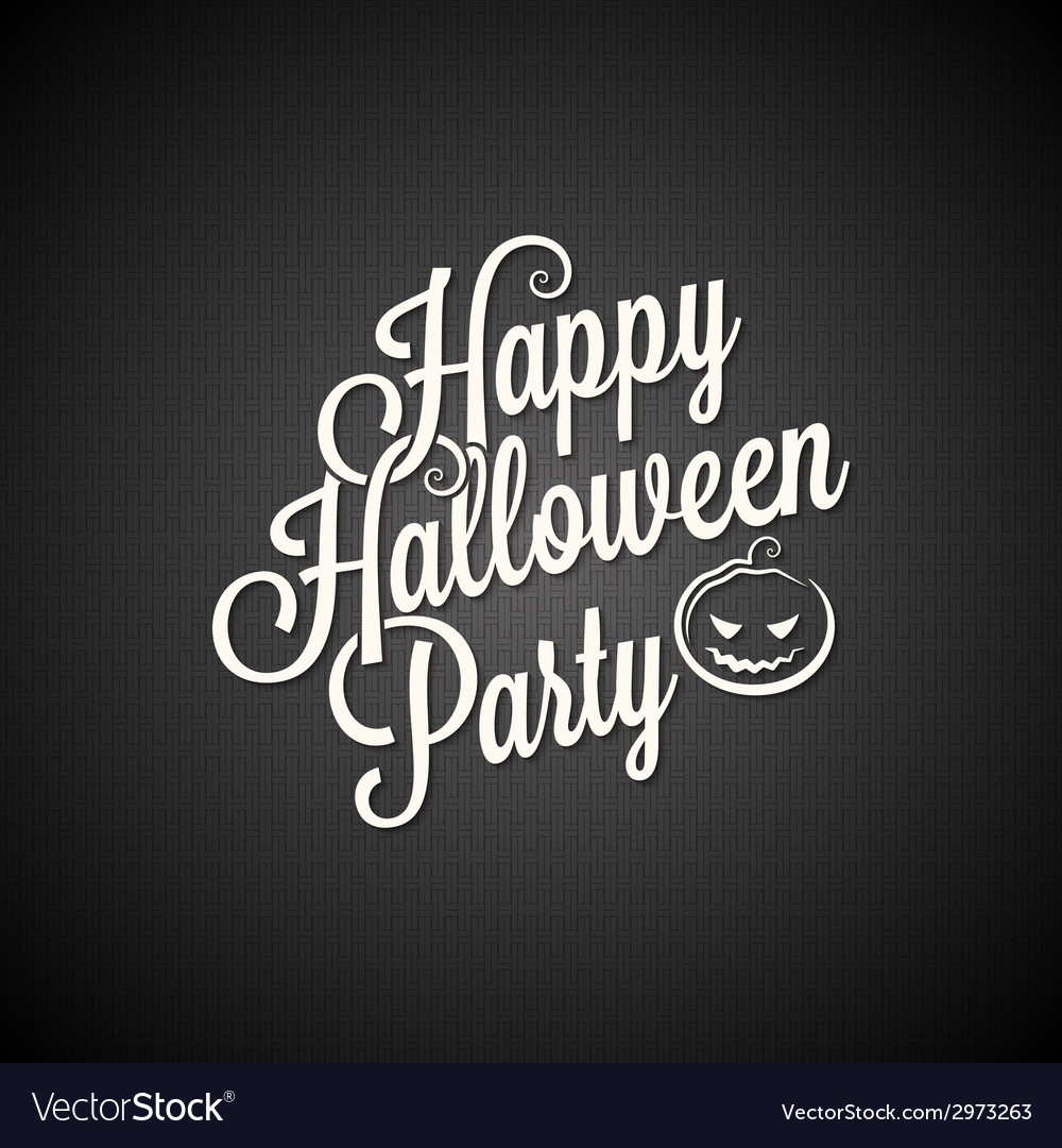 Halloween party vintage lettering background vector | Price: 1 Credit (USD $1)