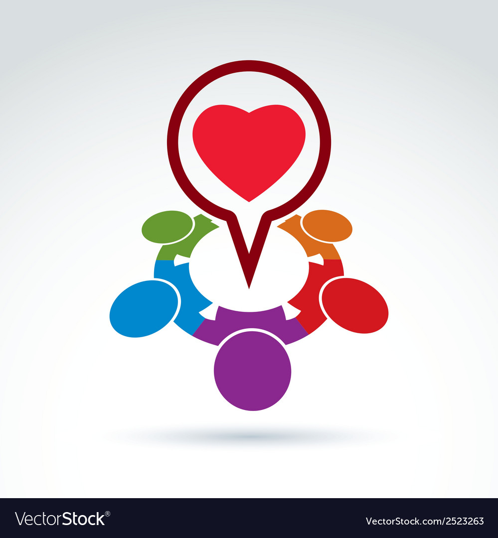 Heart and society icon medical organization vector | Price: 1 Credit (USD $1)