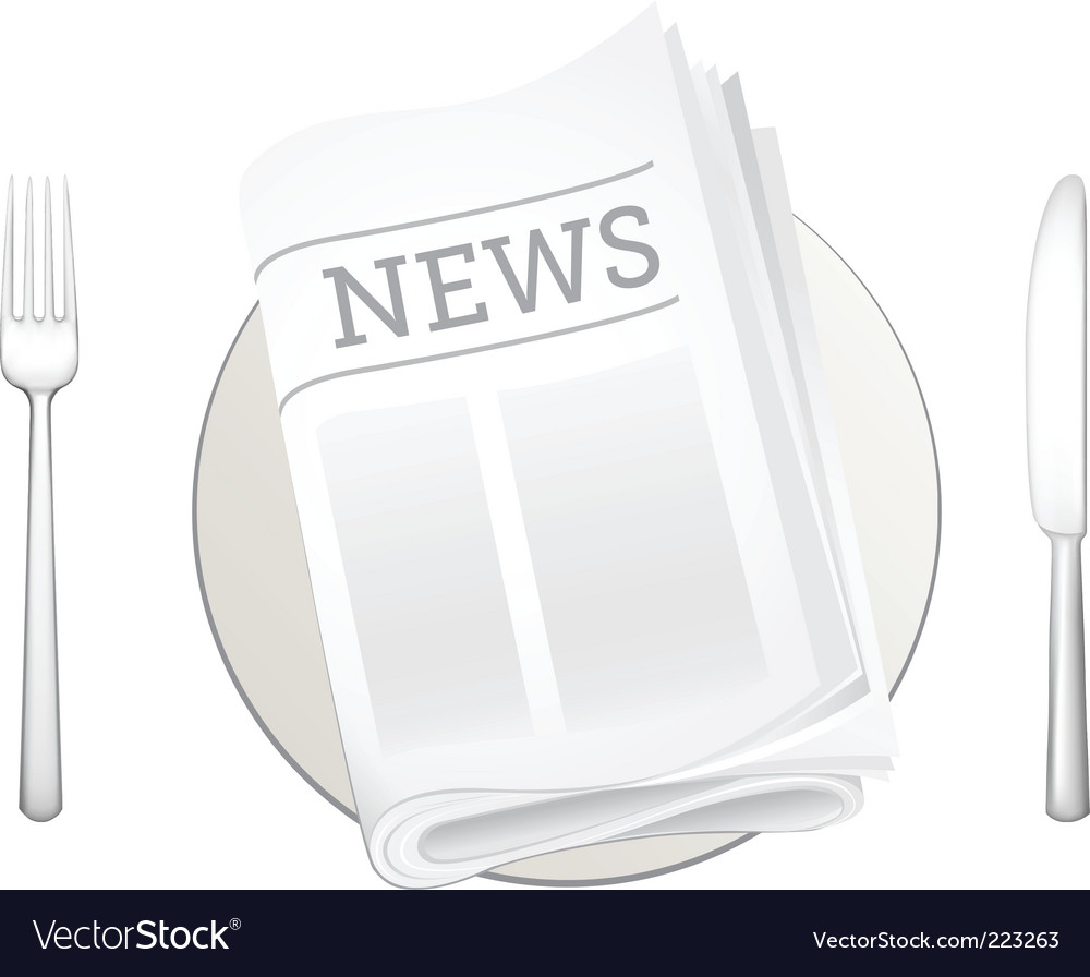 Newspaper and cutlery icon vector | Price: 1 Credit (USD $1)