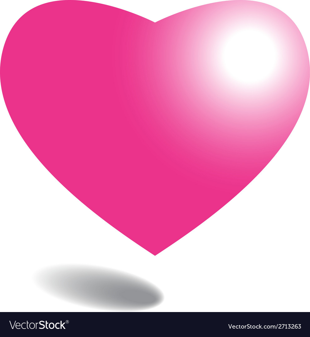 Pink heart on background vector | Price: 1 Credit (USD $1)