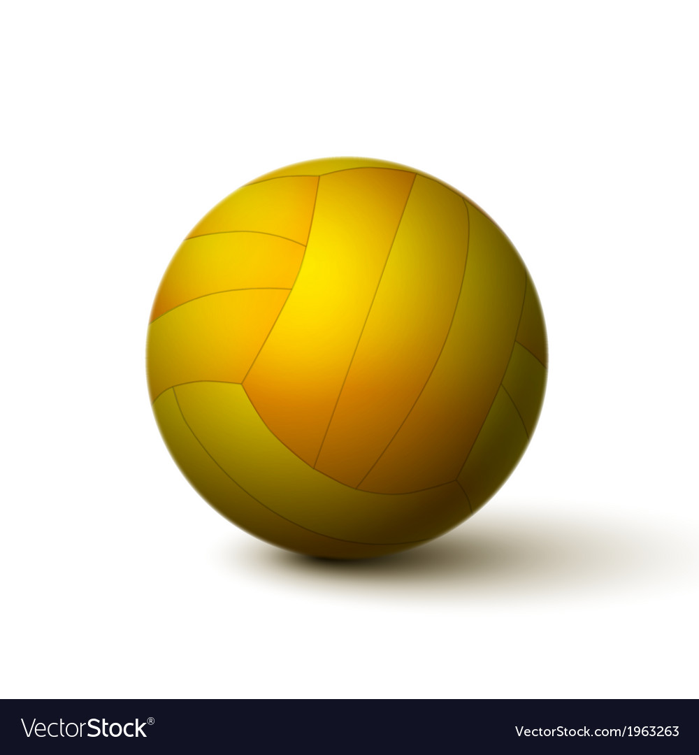 Realistic volleyball ball icon vector | Price: 1 Credit (USD $1)