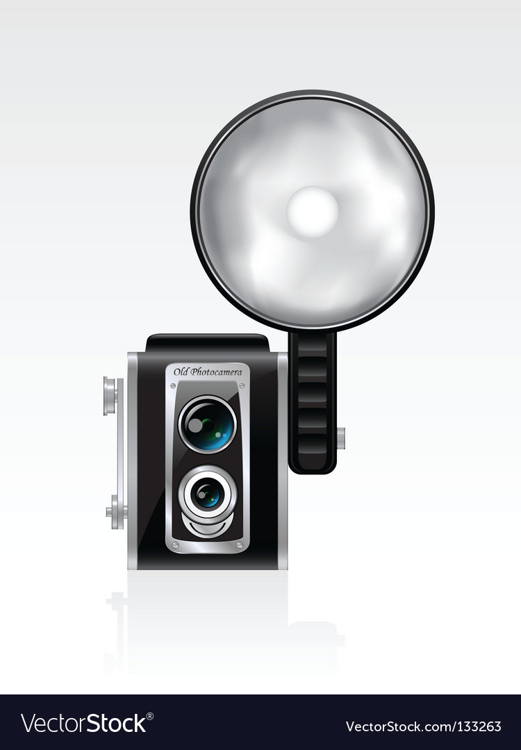 Retro photo camera vector | Price: 1 Credit (USD $1)