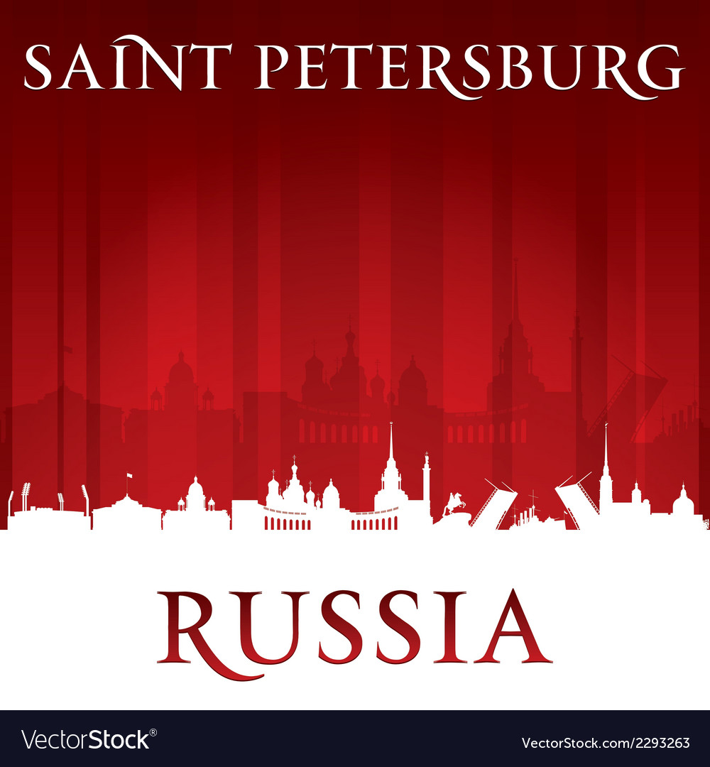 Saint petersburg russia city skyline silhouette vector | Price: 1 Credit (USD $1)