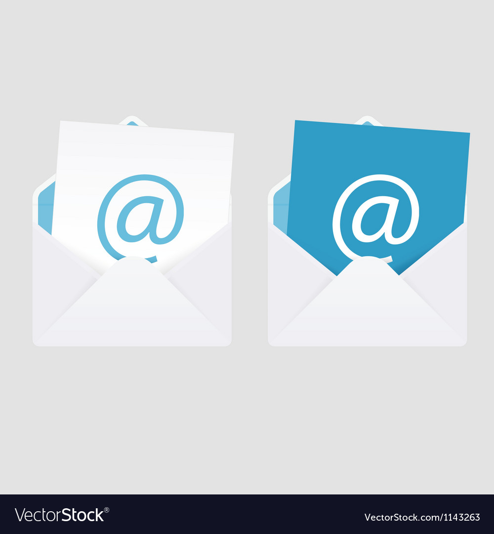 Set of 2 abstract e-mail envelope icons vector | Price: 1 Credit (USD $1)