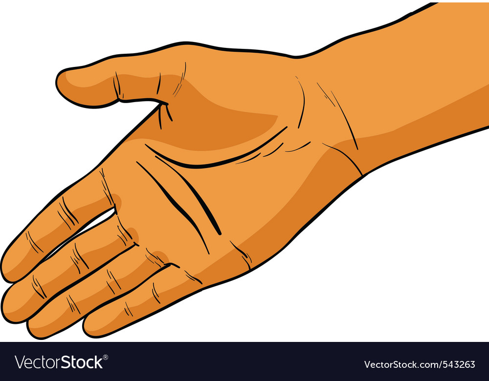 Simple hand vector | Price: 1 Credit (USD $1)