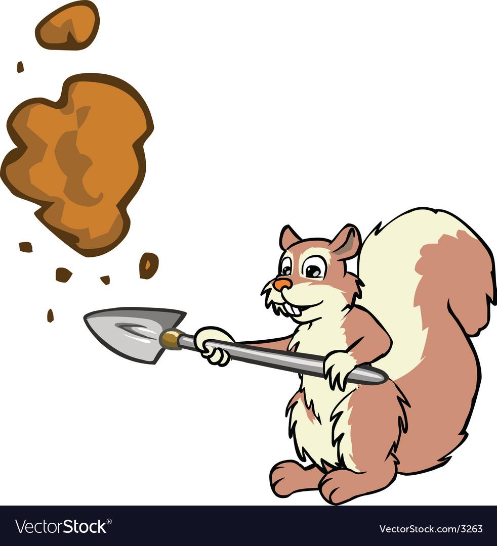 Squirrel digging vector   Price: 1 Credit (USD $1)