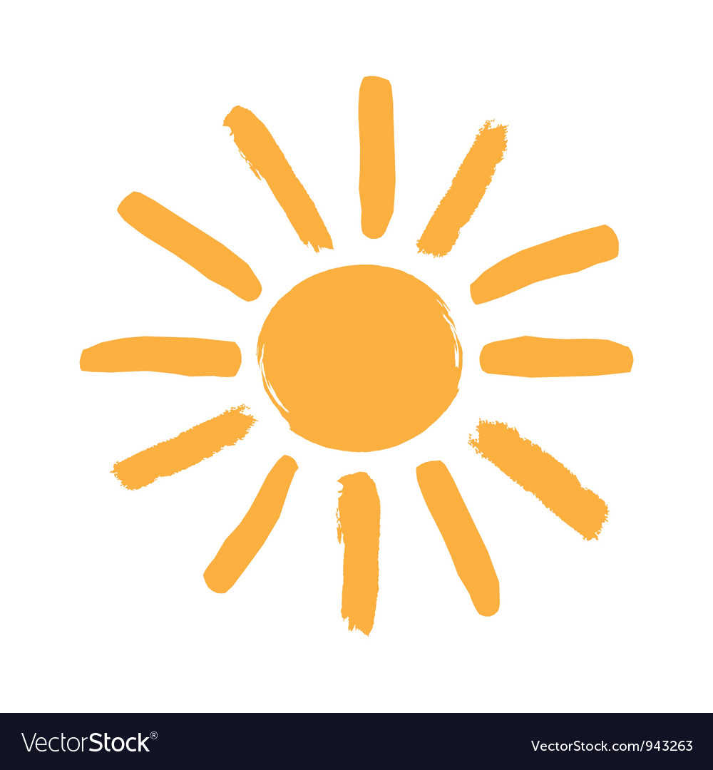 Sun symbol vector | Price: 1 Credit (USD $1)