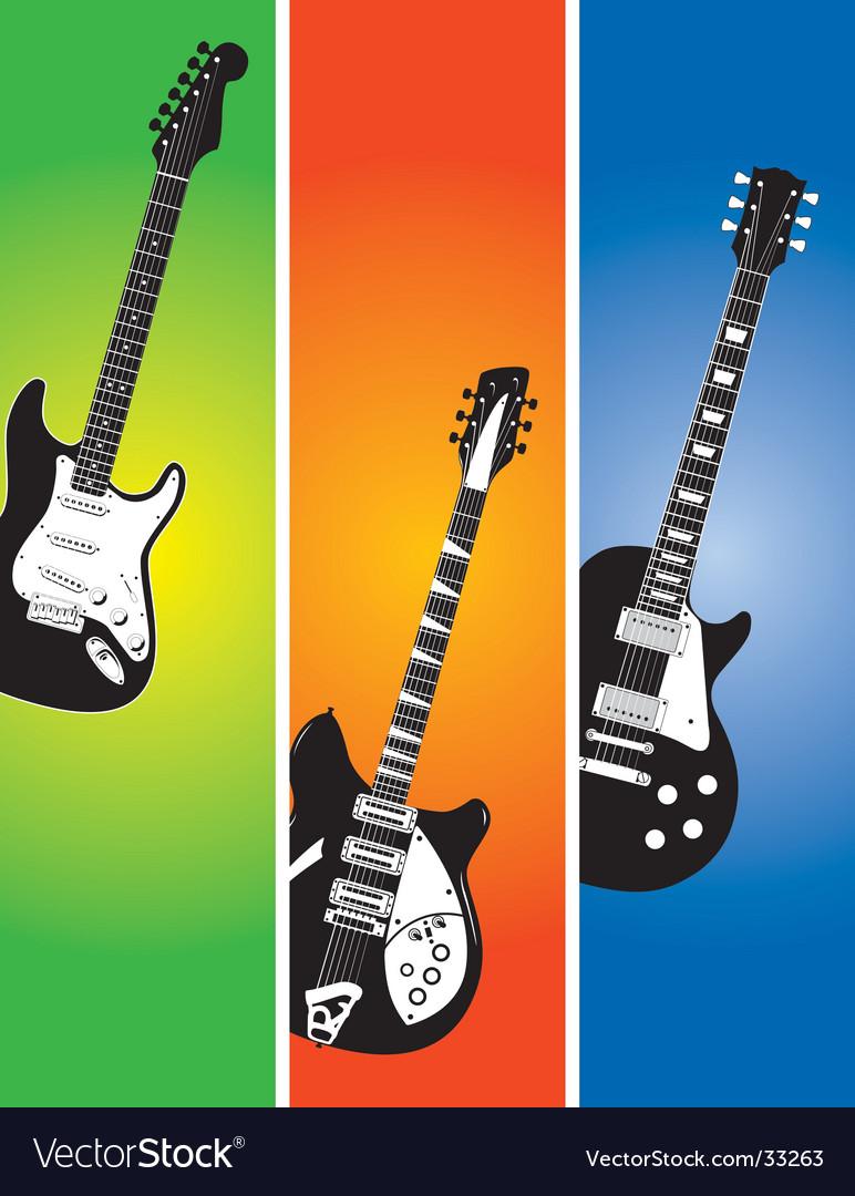 Three guitars vector   Price: 1 Credit (USD $1)