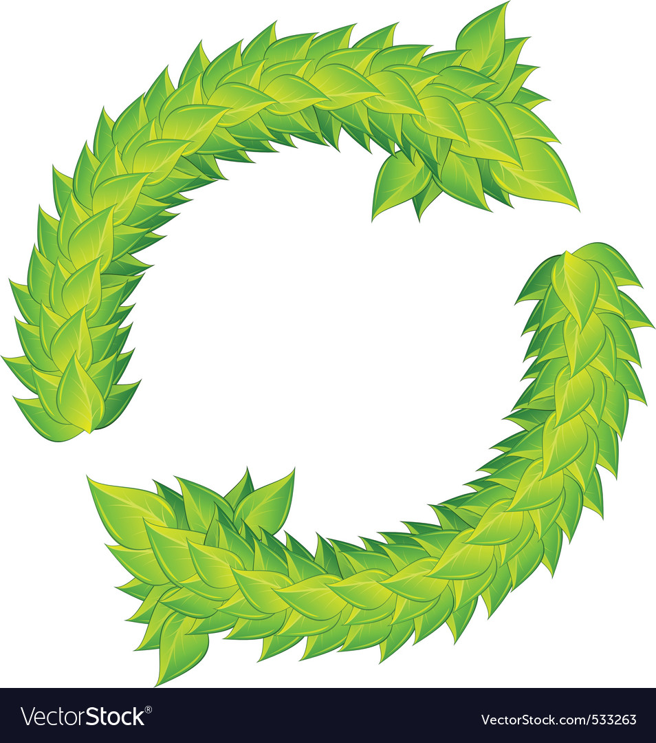 Wreath of green laurels vector | Price: 1 Credit (USD $1)