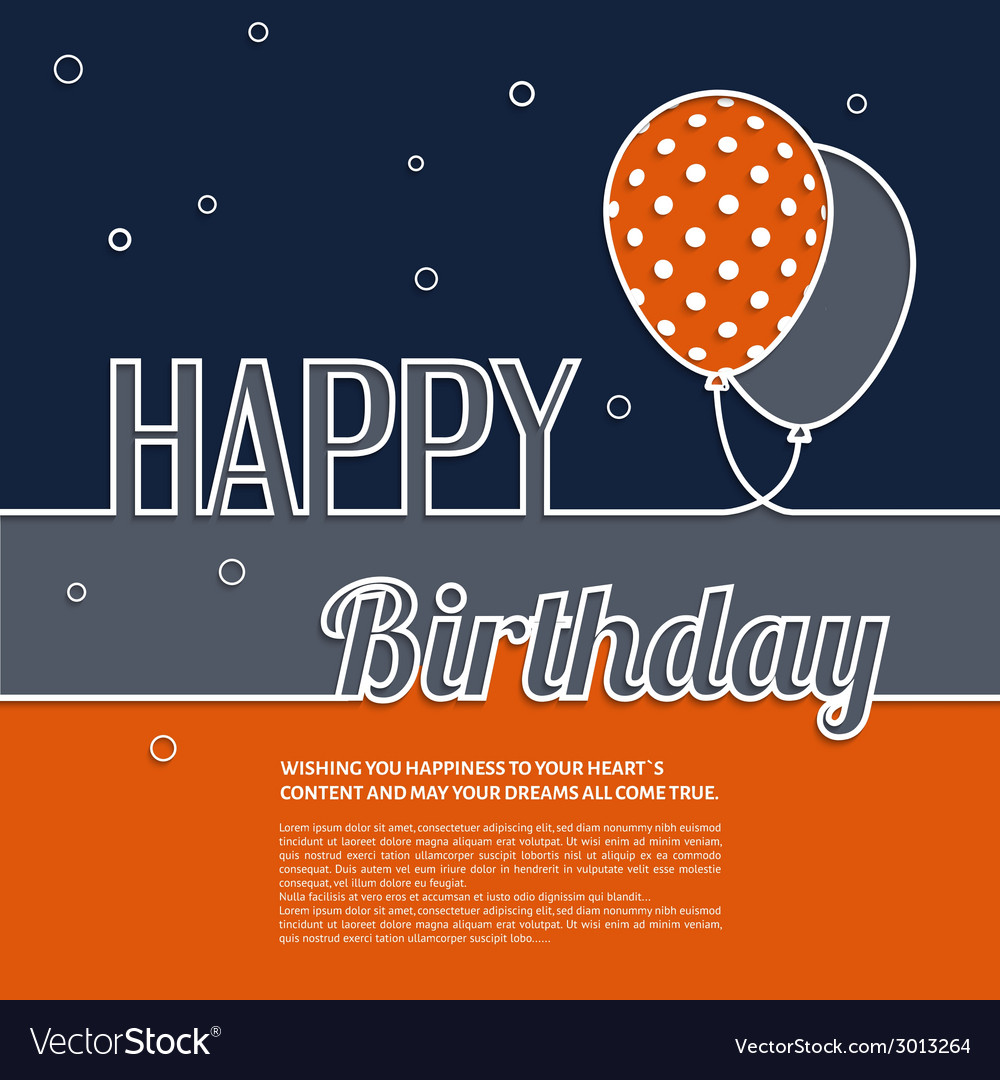Birthday wish with balloons and text vector   Price: 1 Credit (USD $1)