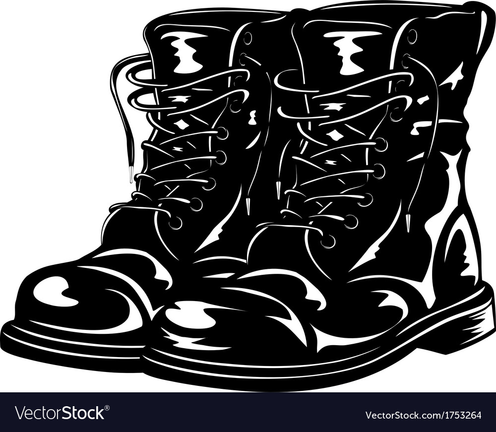 Black boots vector | Price: 1 Credit (USD $1)