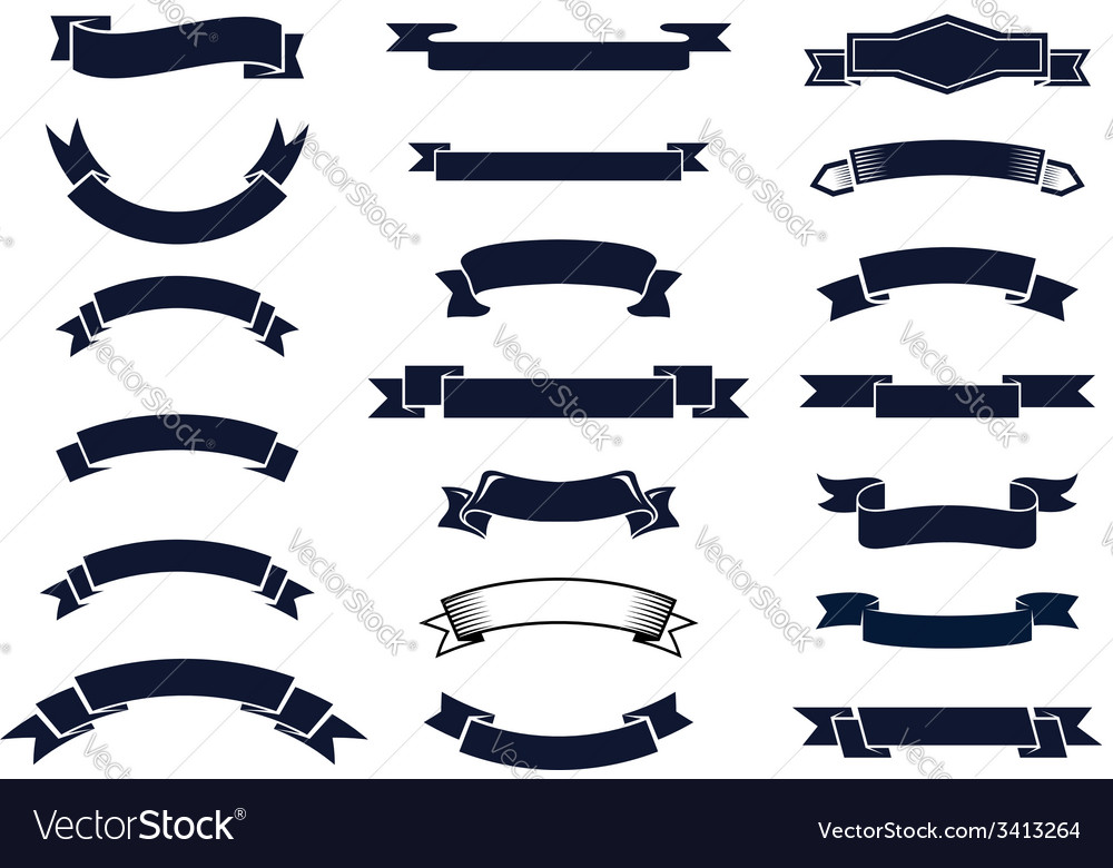 Classic vintage ribbon banners vector | Price: 1 Credit (USD $1)