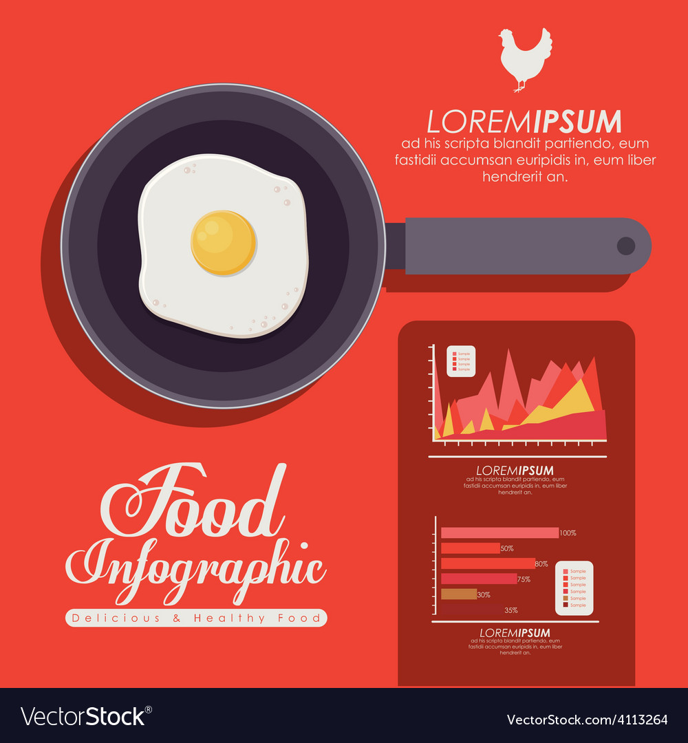 Food infographic design vector | Price: 1 Credit (USD $1)