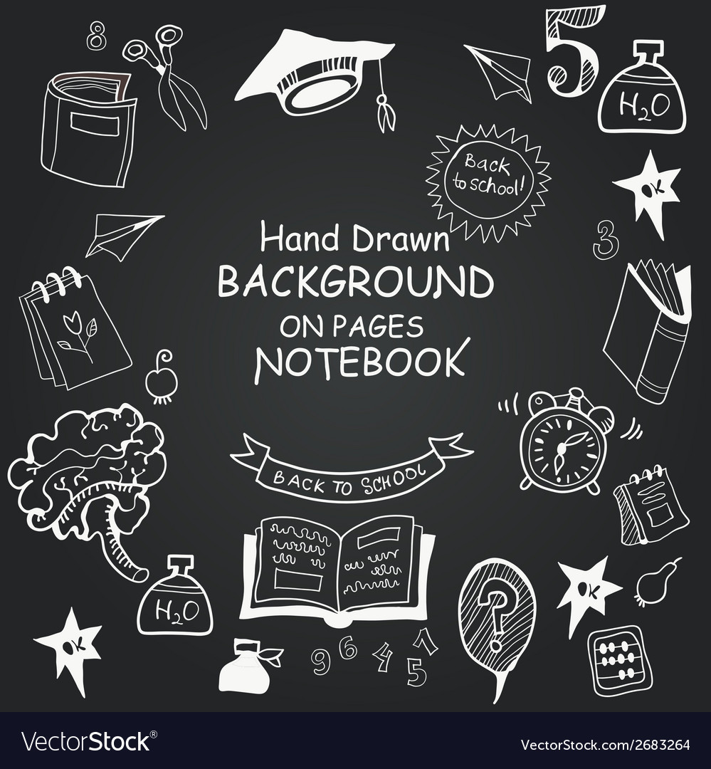 Freehand drawing chalkboard icons vector | Price: 1 Credit (USD $1)