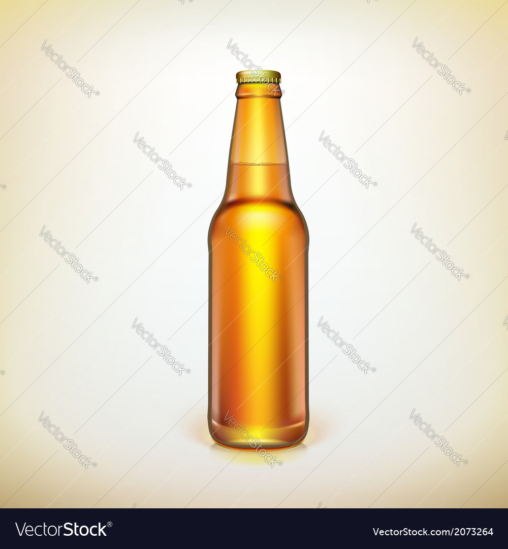 Glass beer brown bottle product packing vector | Price: 1 Credit (USD $1)