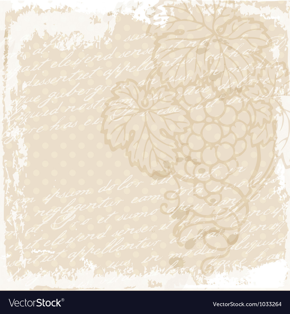 Grape vine background vector   Price: 1 Credit (USD $1)