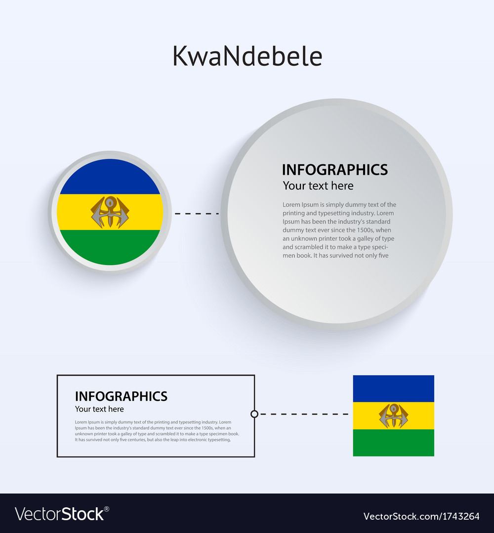 Kwandebele country set of banners vector | Price: 1 Credit (USD $1)