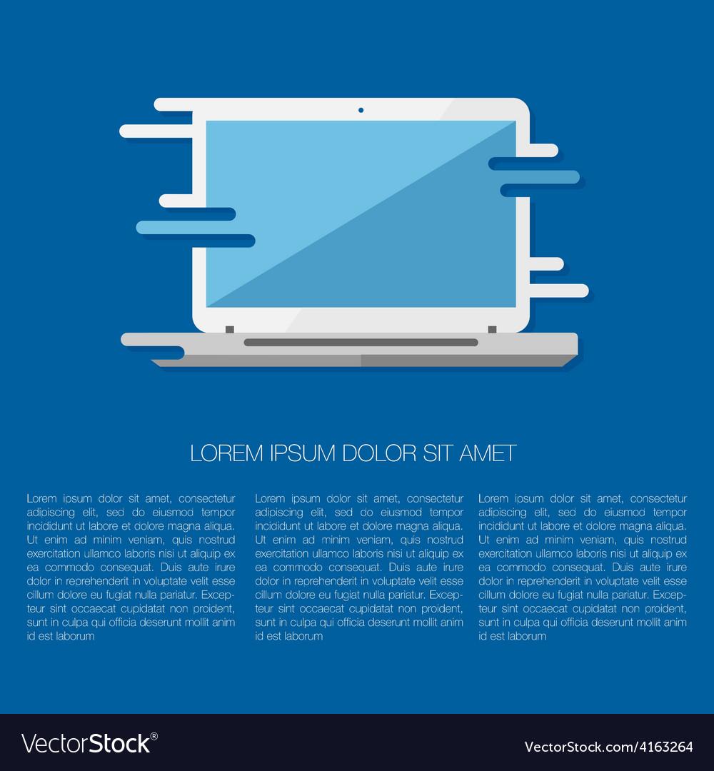 Laptop vector | Price: 1 Credit (USD $1)