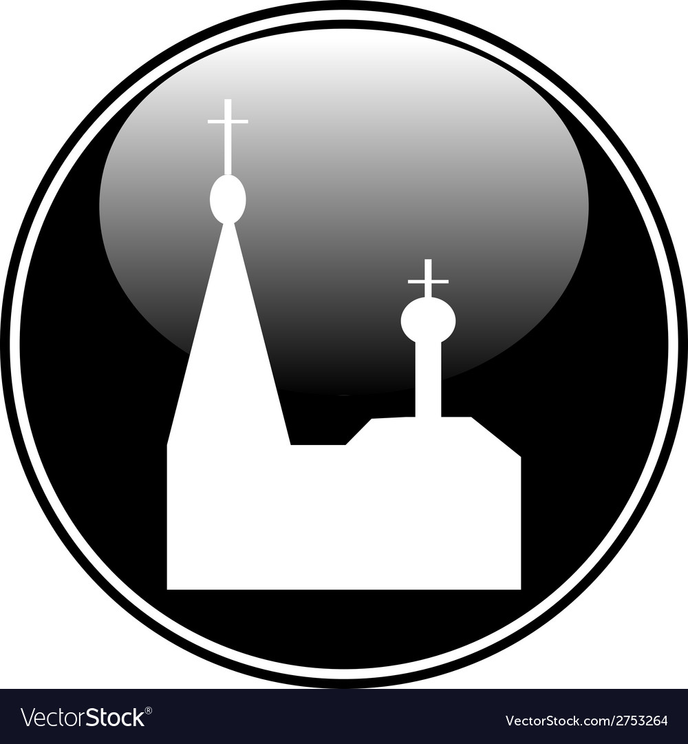 Orthodox church button vector | Price: 1 Credit (USD $1)