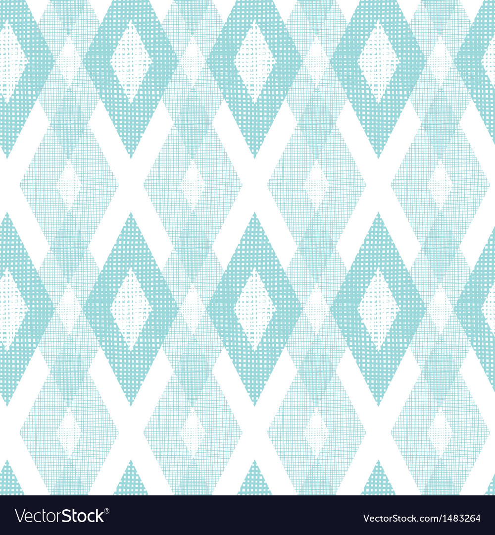 Pastel blue fabric ikat diamond seamless pattern vector | Price: 1 Credit (USD $1)