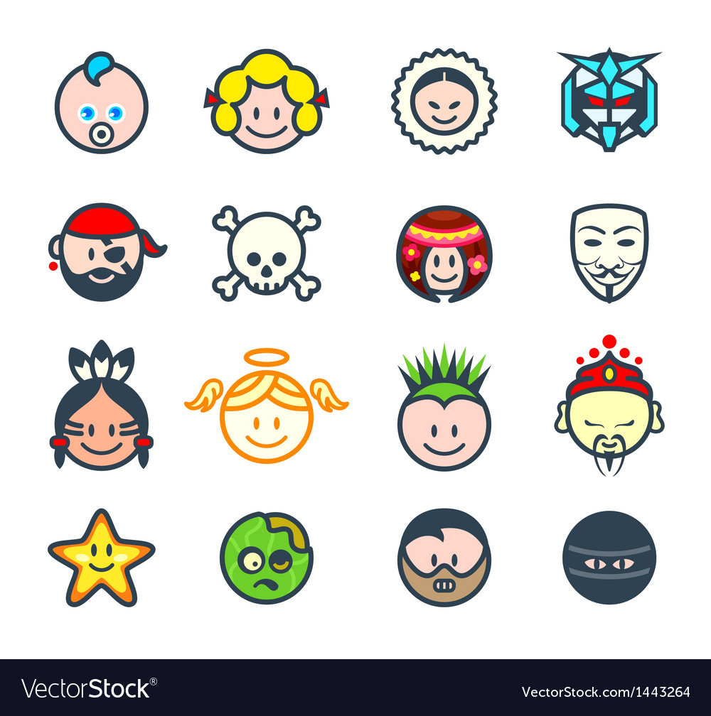 Social characters ii vector | Price: 1 Credit (USD $1)