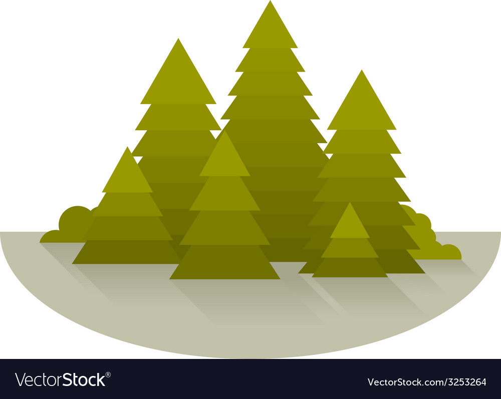 Spruce forest glade vector | Price: 1 Credit (USD $1)