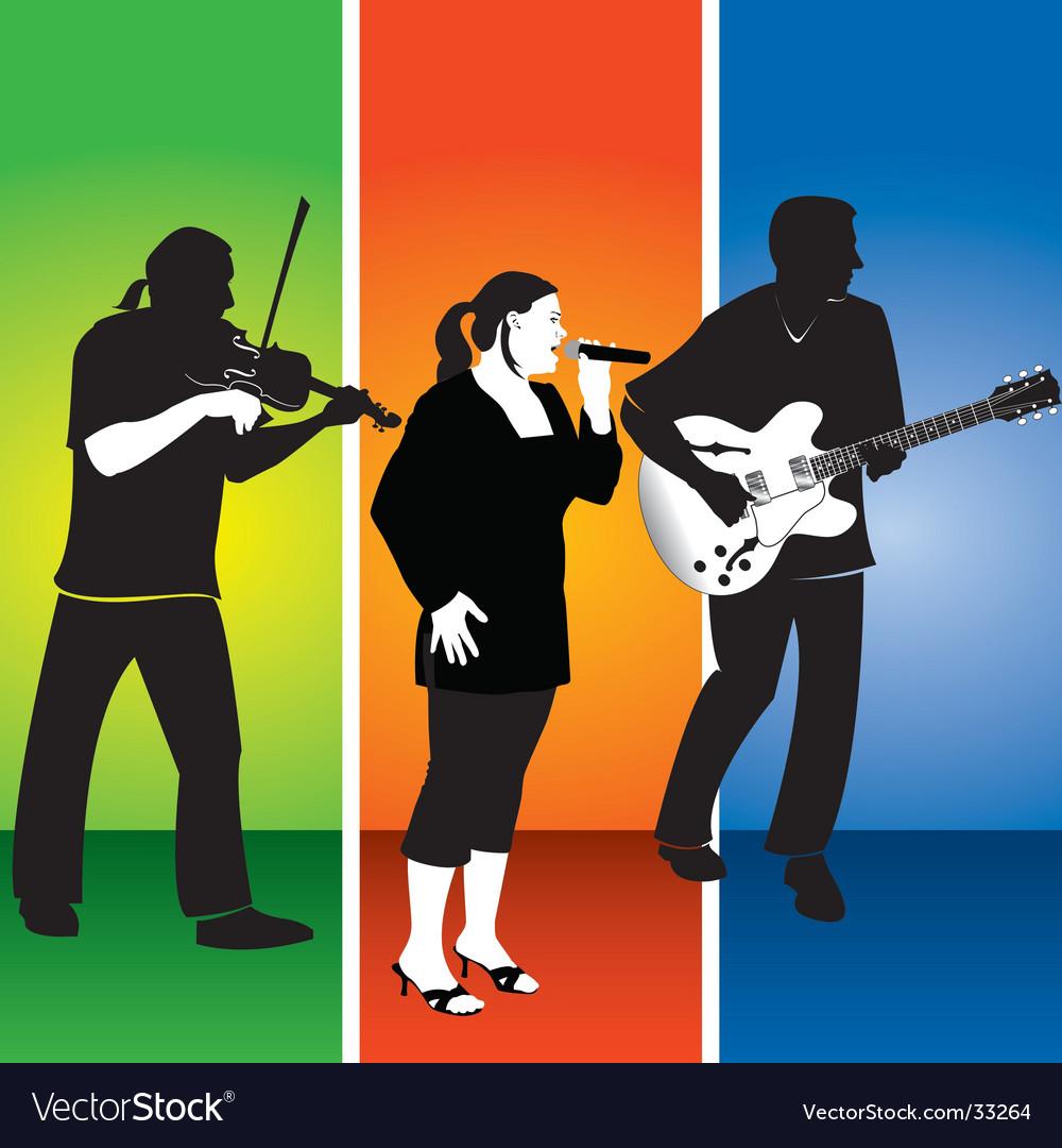 Three musicians vector | Price: 1 Credit (USD $1)