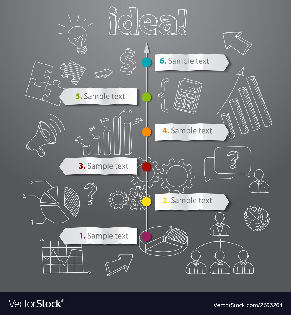 Timeline idea generation concept background vector | Price: 1 Credit (USD $1)