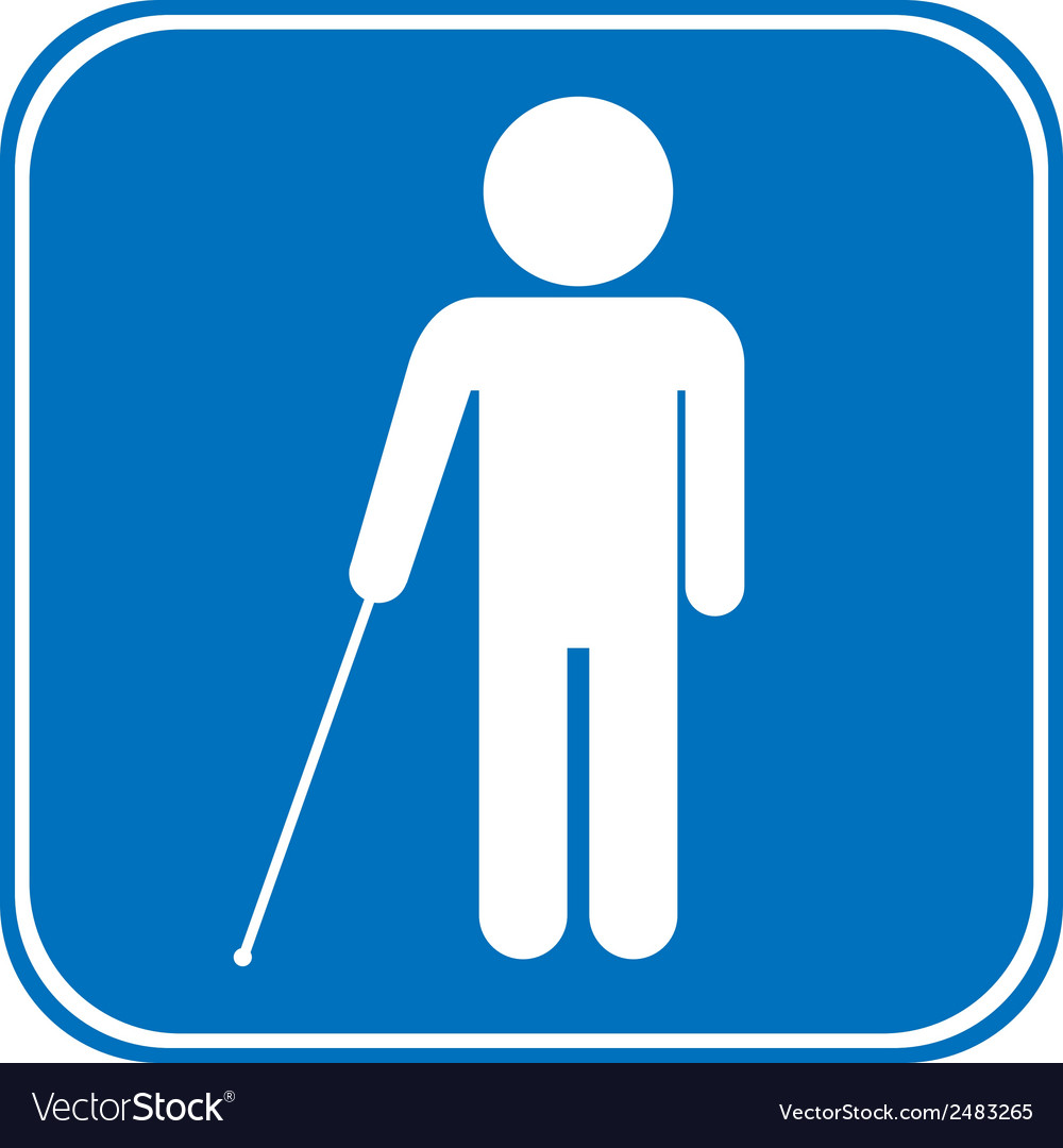 Blind disabled sign vector   Price: 1 Credit (USD $1)