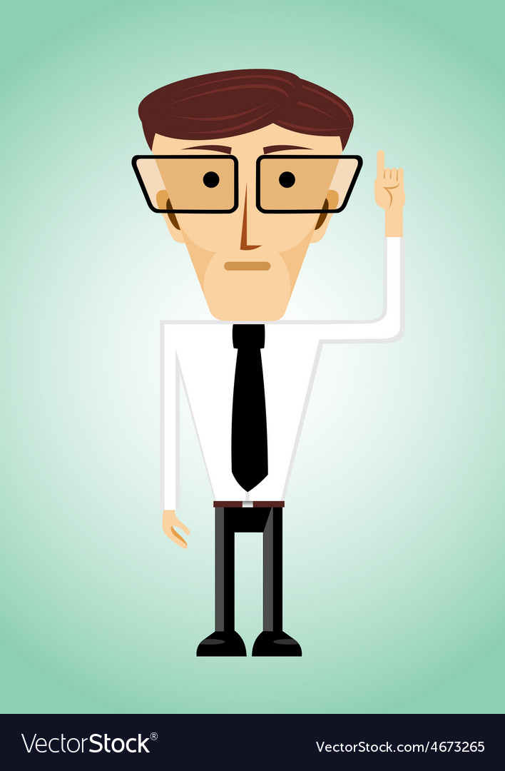 Businessman poiting index finger up vector | Price: 1 Credit (USD $1)