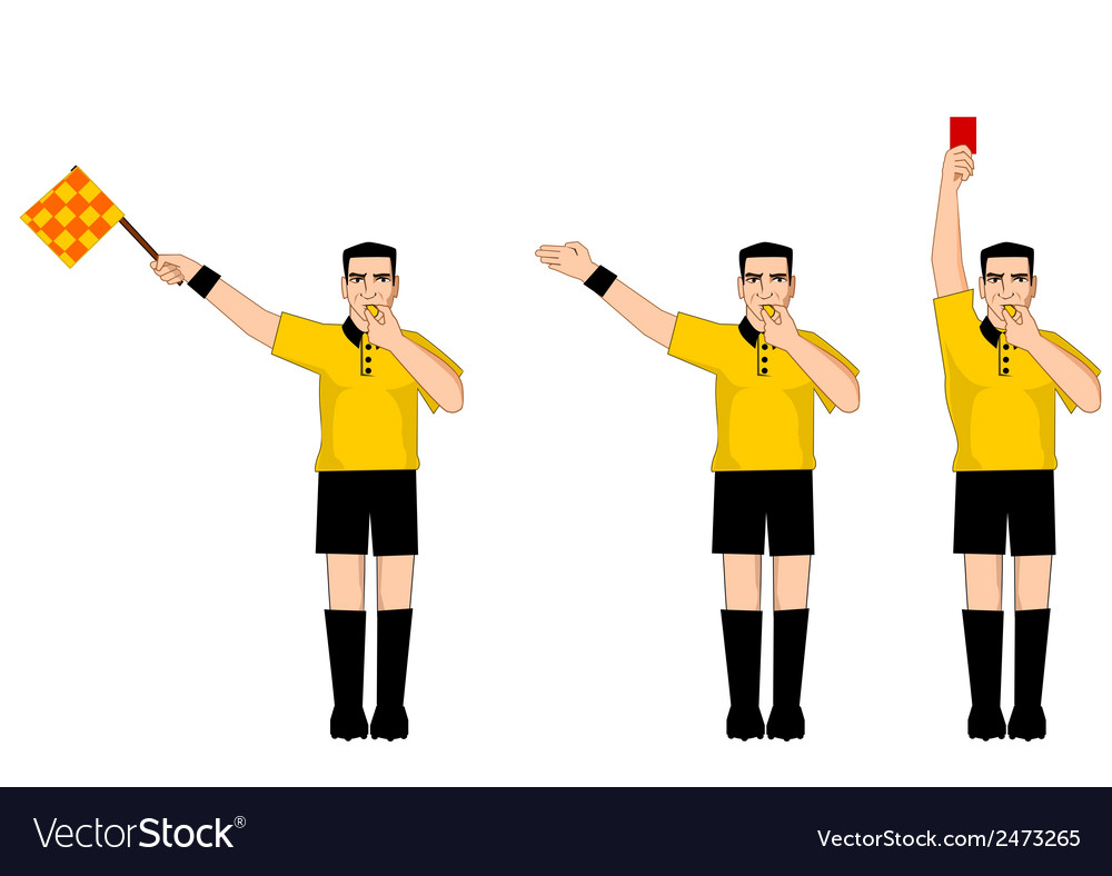 Collection of football referee gestures vector | Price: 1 Credit (USD $1)