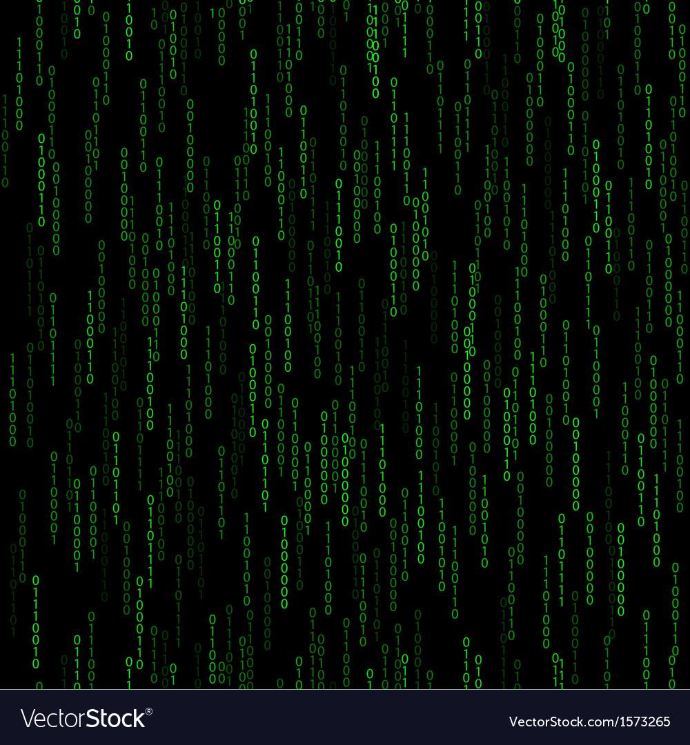 Dark green seamless pattern with binary code vector | Price: 1 Credit (USD $1)