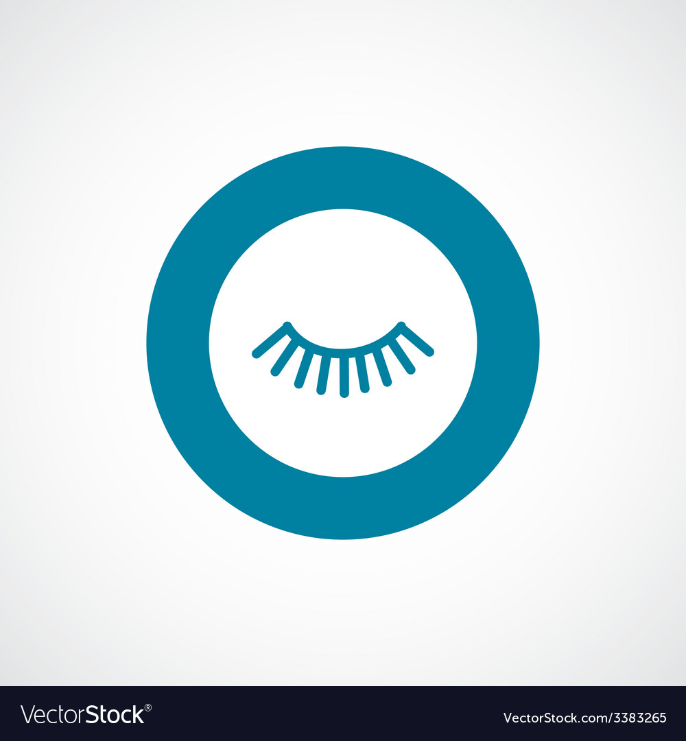 Eyelash bold blue border circle icon vector | Price: 1 Credit (USD $1)