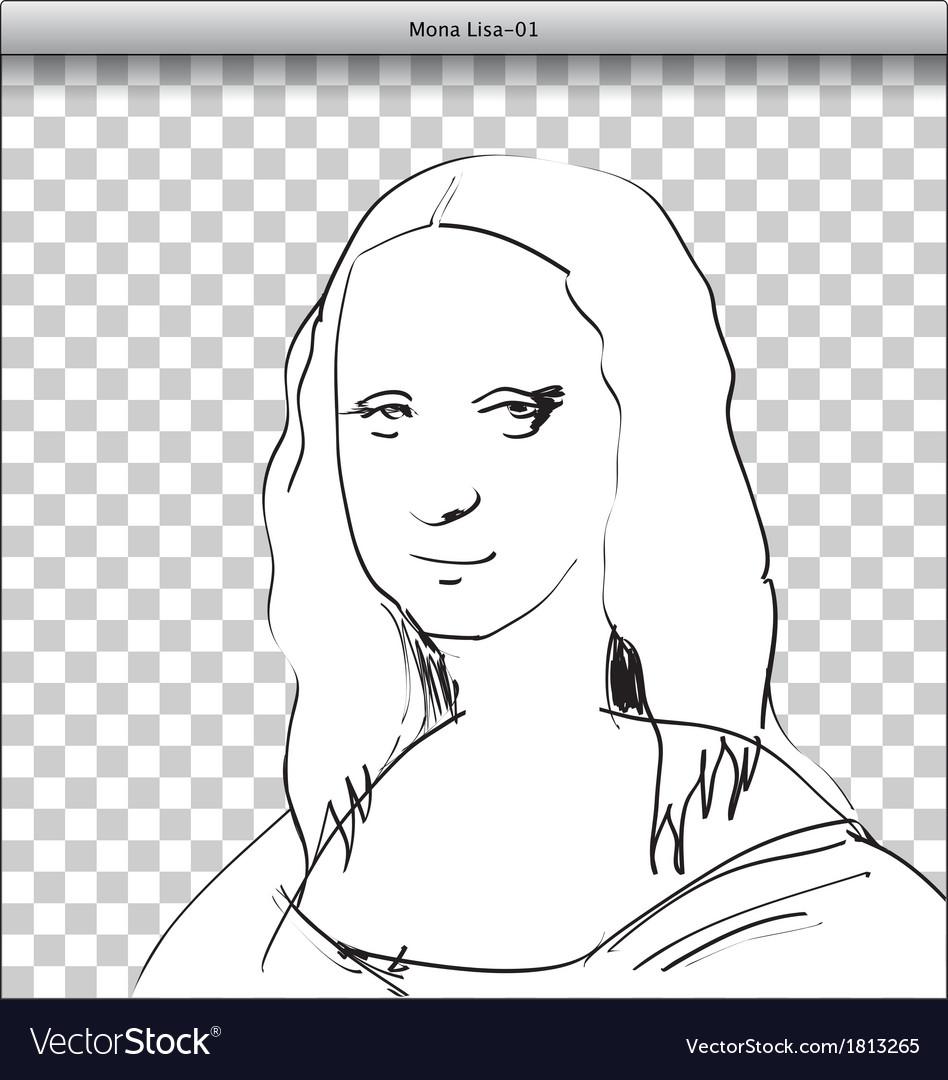 Mona lisa vector | Price: 1 Credit (USD $1)