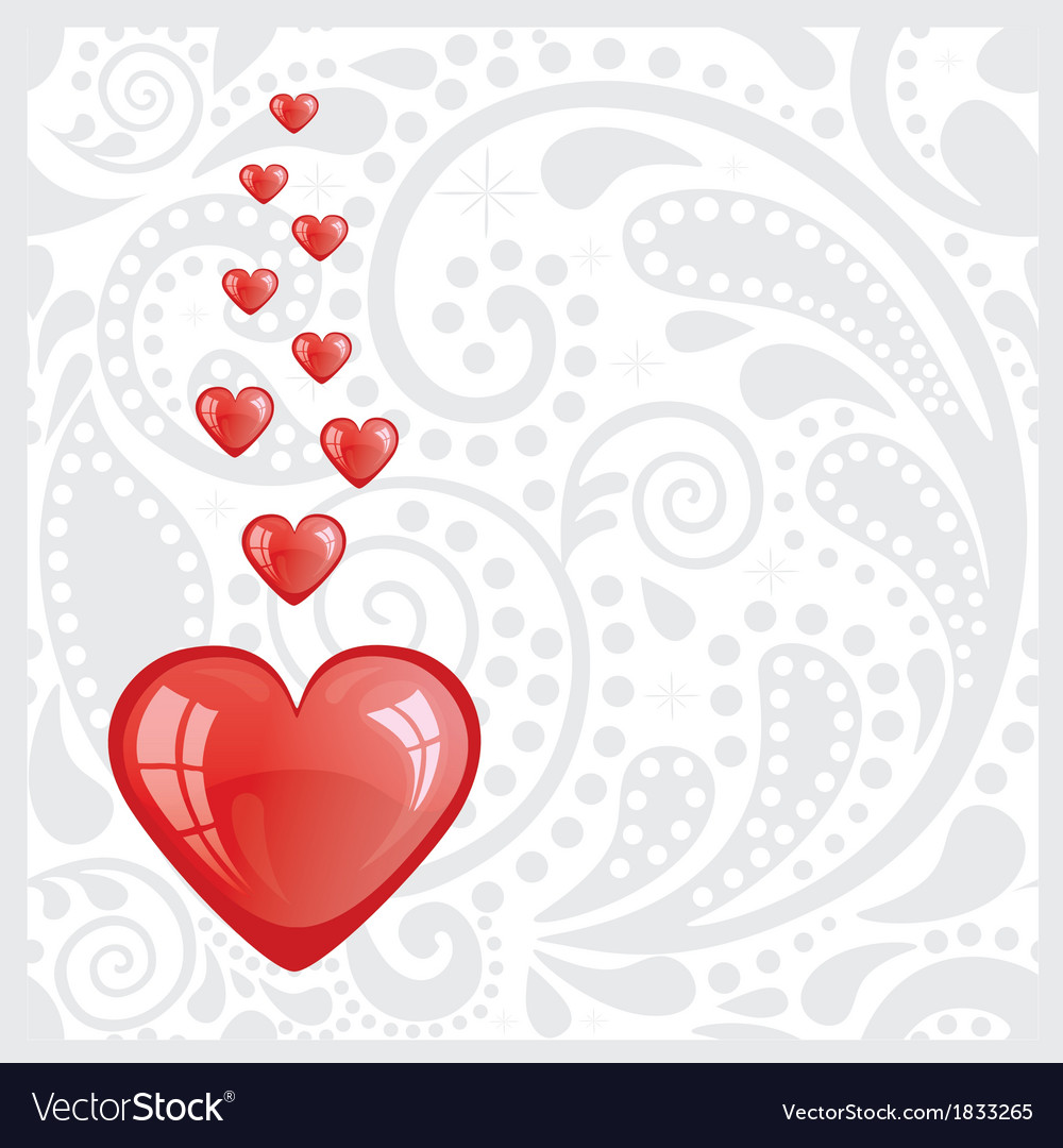 Postcard with the heart vector | Price: 1 Credit (USD $1)