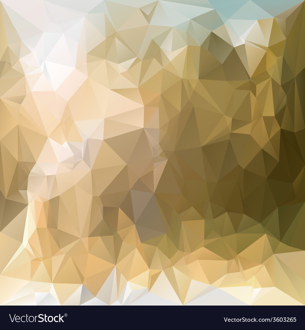 Sand beige polygonal triangular pattern background vector | Price: 1 Credit (USD $1)