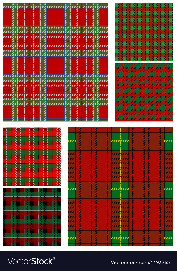 Set of tartan texture vector | Price: 1 Credit (USD $1)