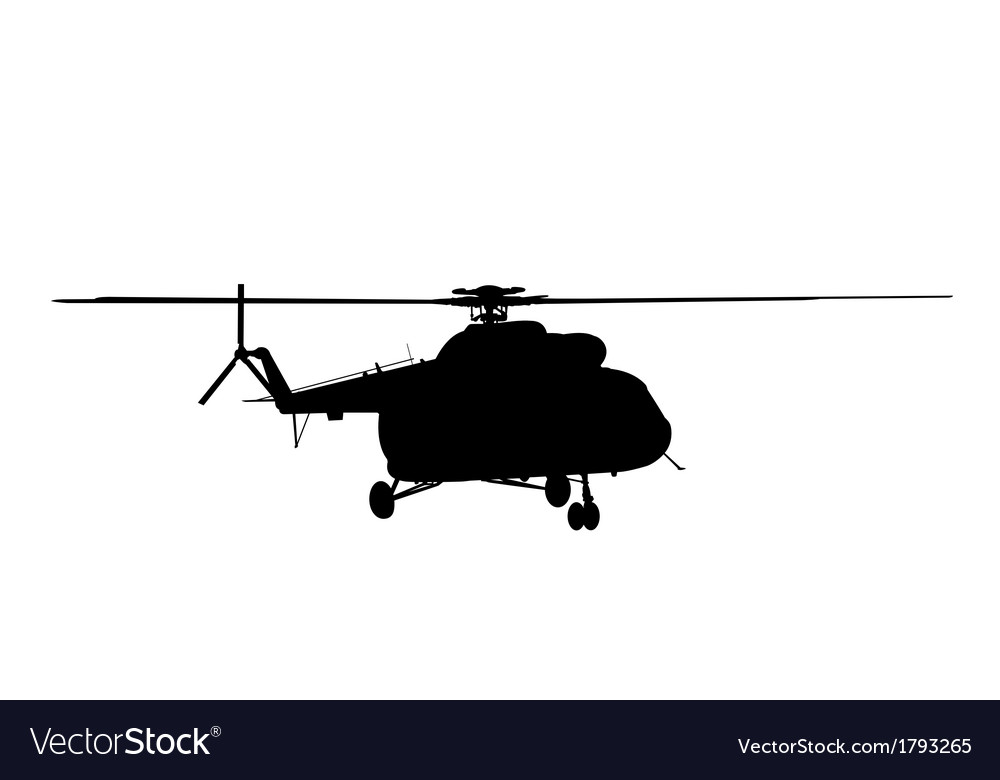 Silhouette of the helicopter vector | Price: 3 Credit (USD $3)