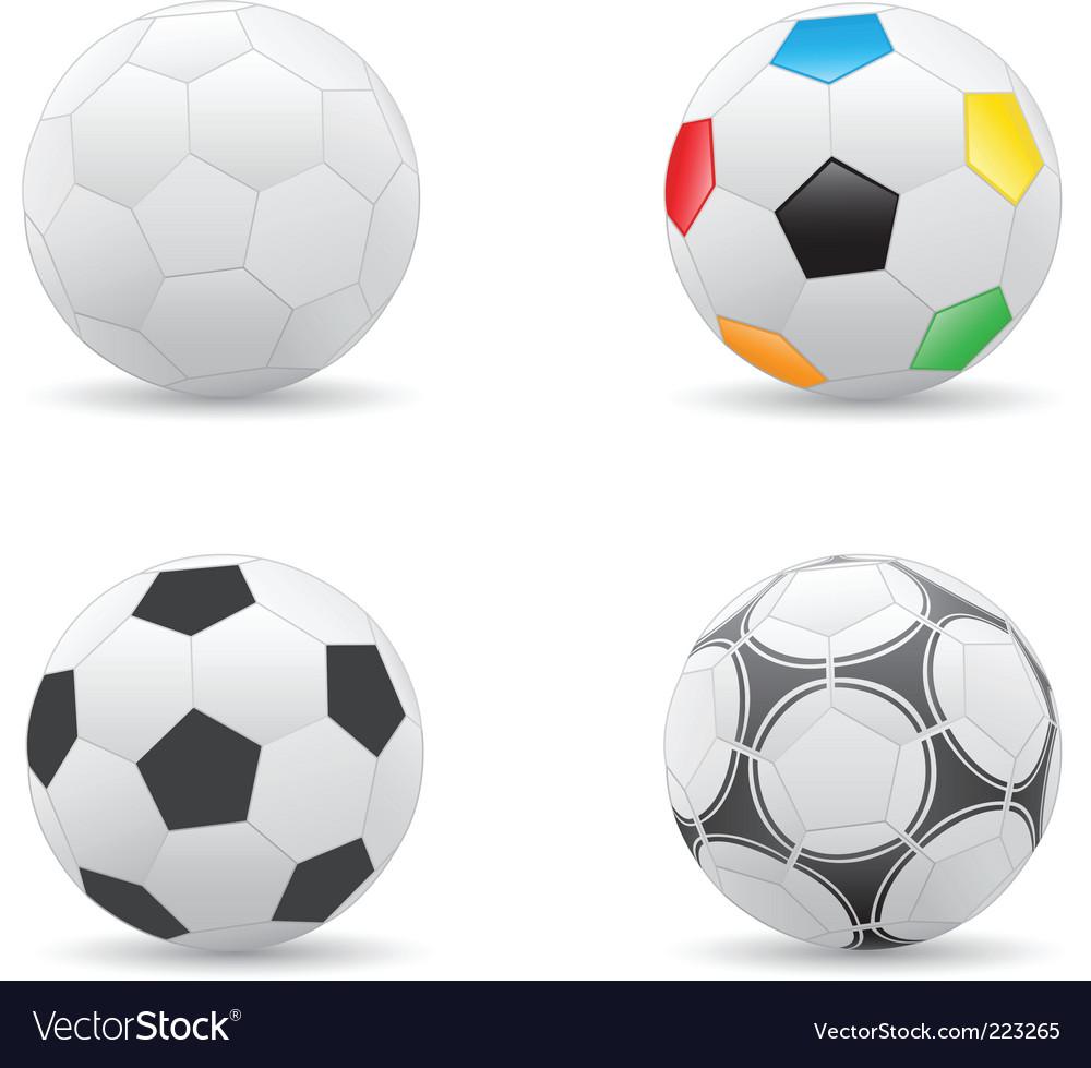 Soccer balls vector | Price: 1 Credit (USD $1)