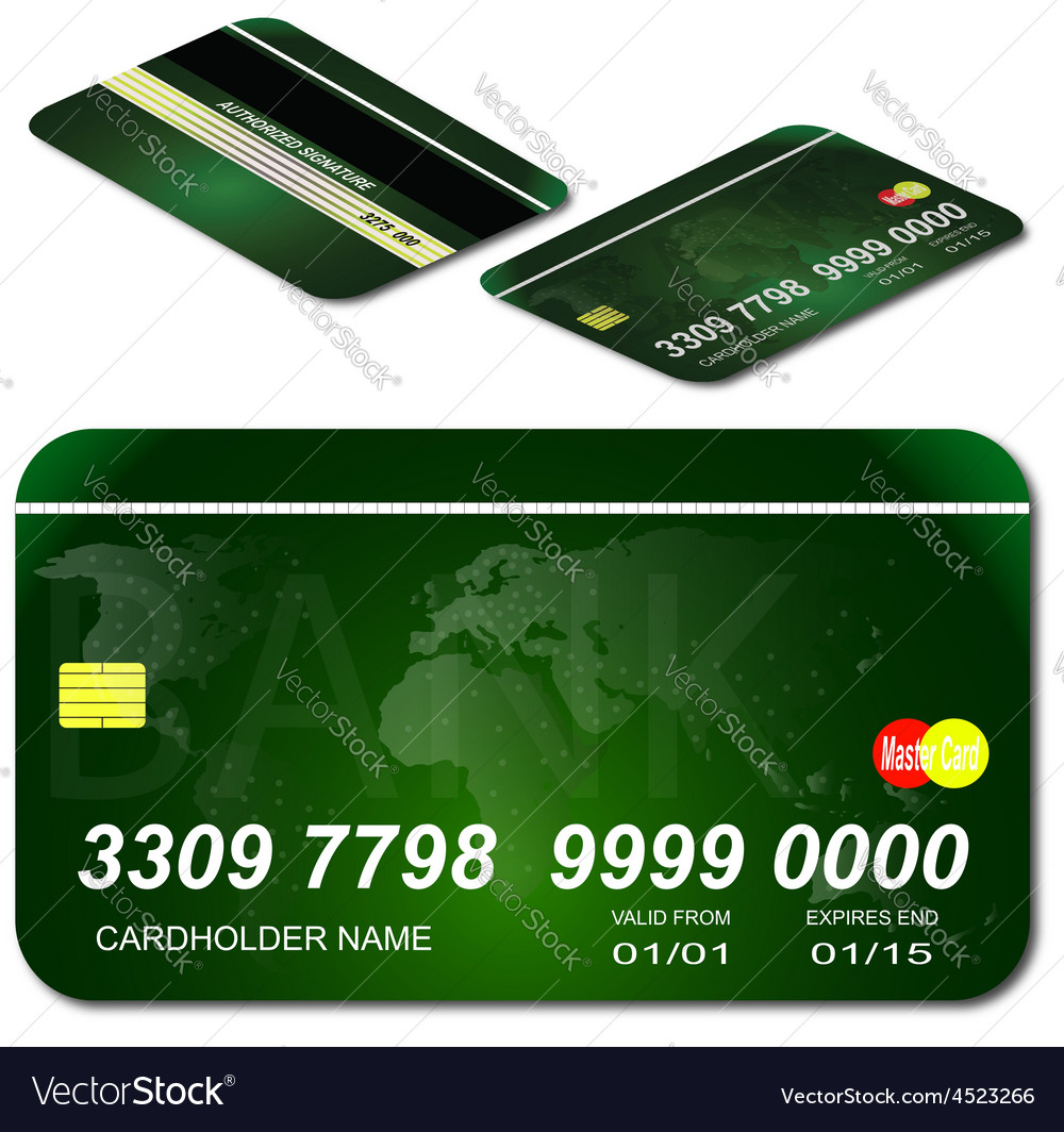 Bank credit shop map credit master payment purchas vector | Price: 1 Credit (USD $1)