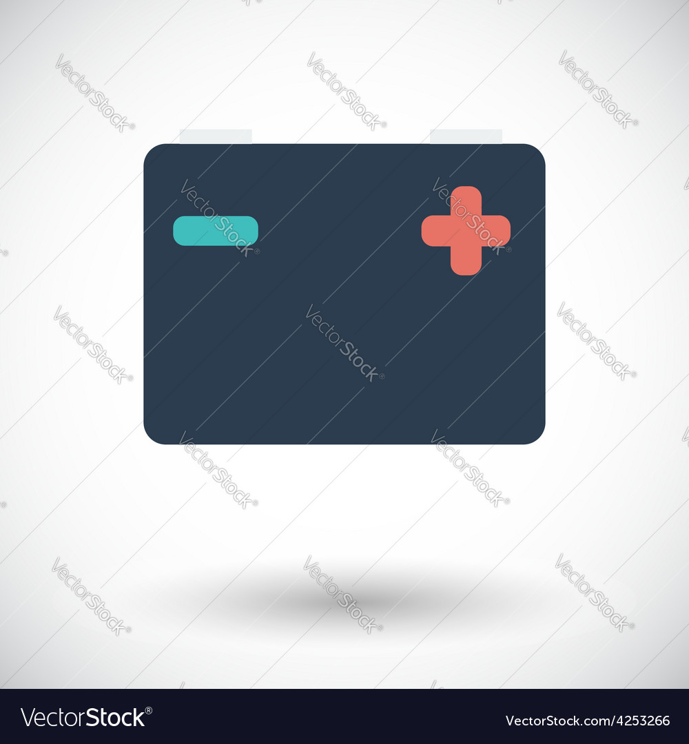 Battery flat icon vector | Price: 1 Credit (USD $1)