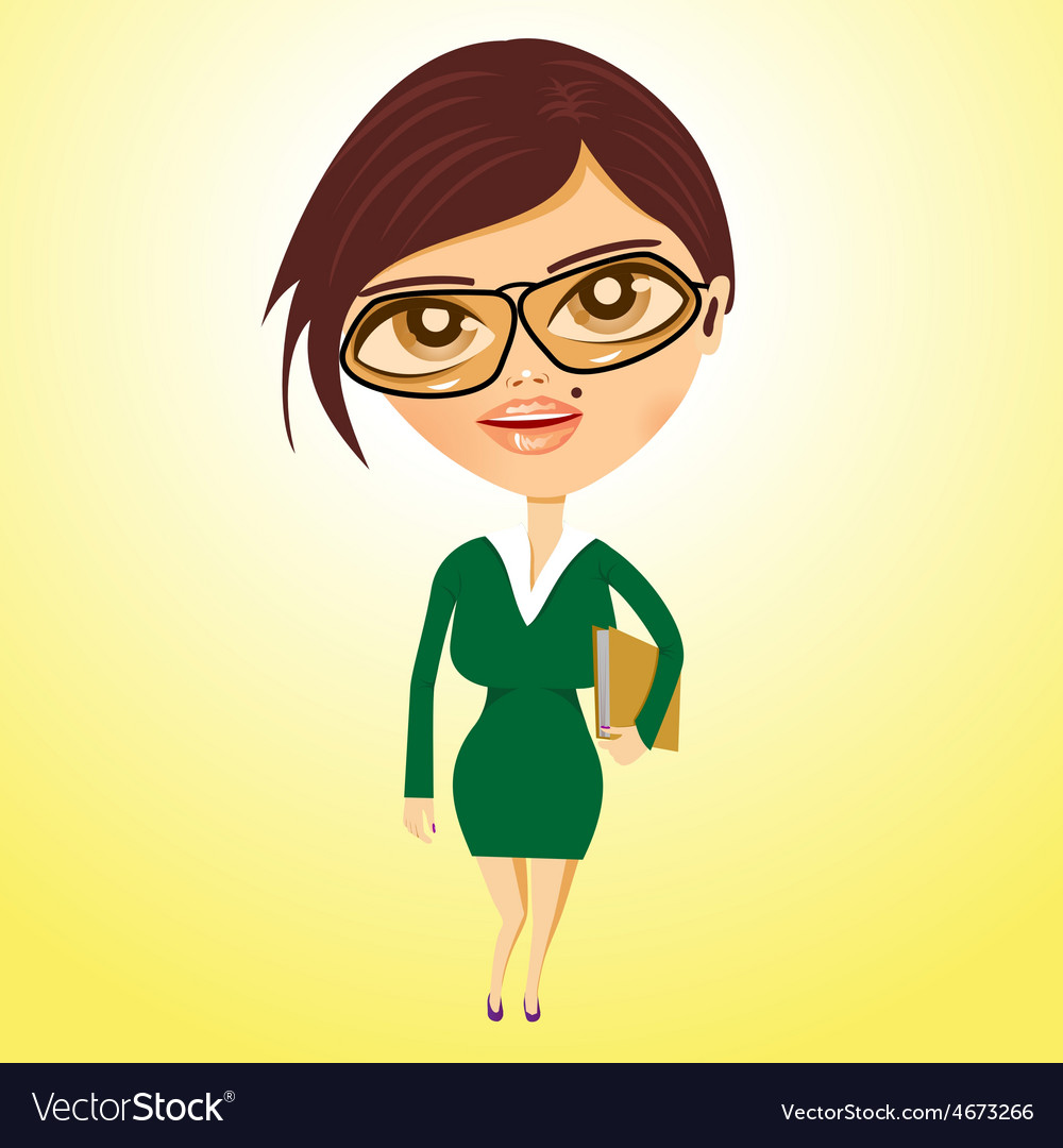 Business woman with beauty spot vector | Price: 1 Credit (USD $1)