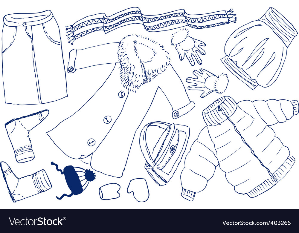 Clothes and accessories vector | Price: 1 Credit (USD $1)
