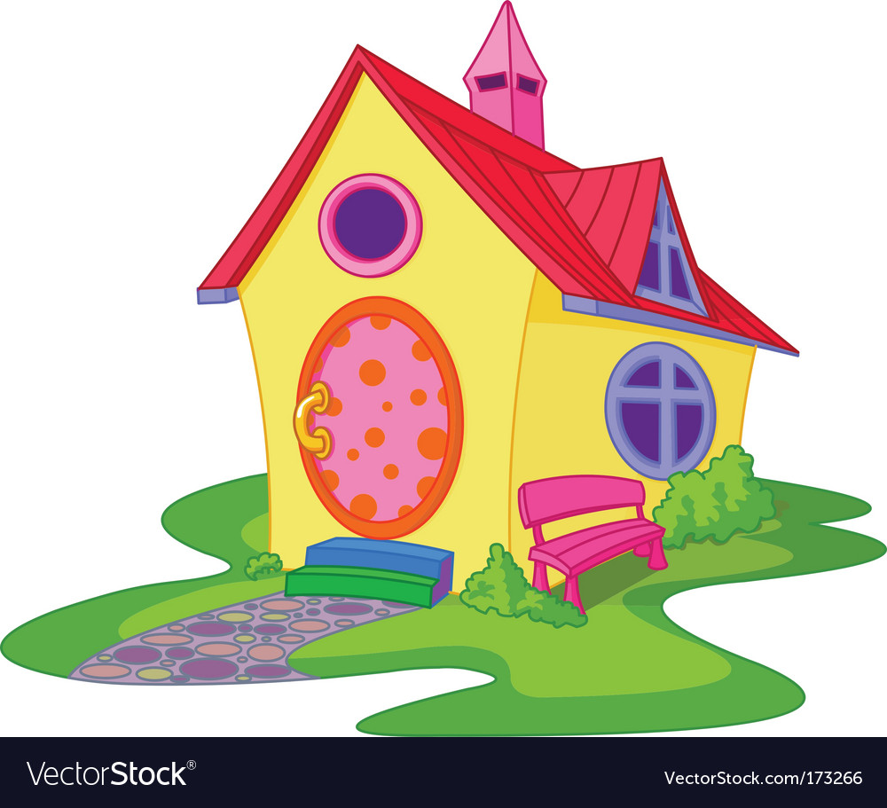 Cute house vector | Price: 1 Credit (USD $1)