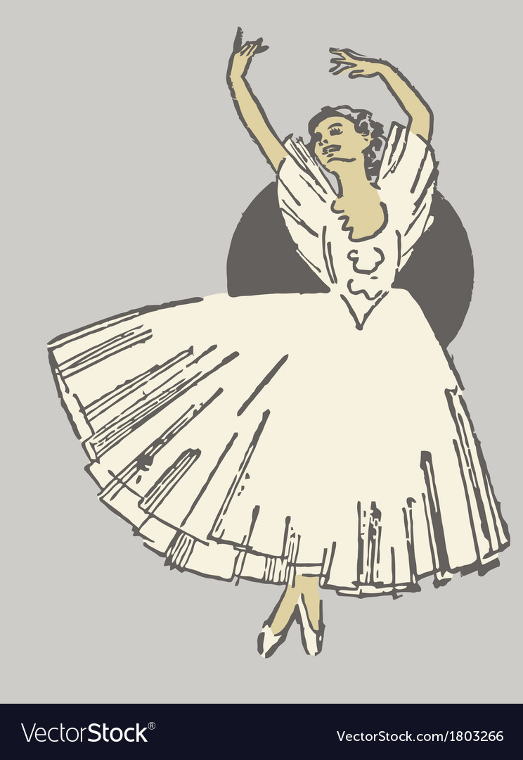 Dancing ballerina vector | Price: 1 Credit (USD $1)