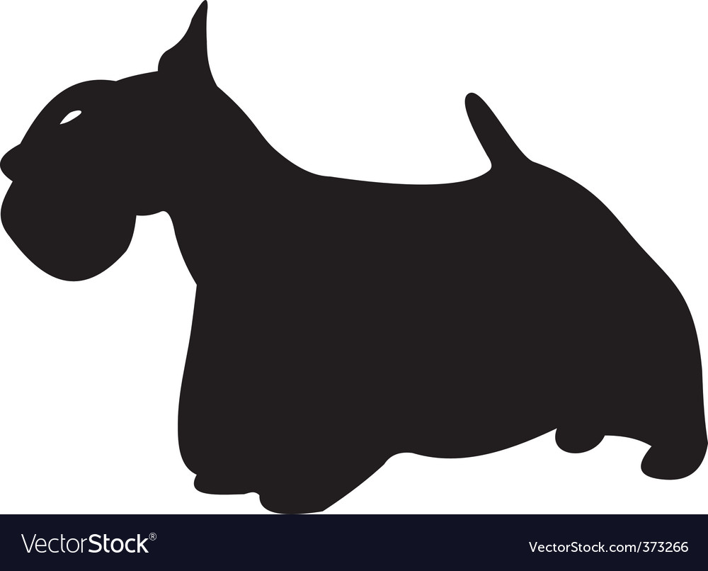 Dog silhouette vector | Price: 1 Credit (USD $1)