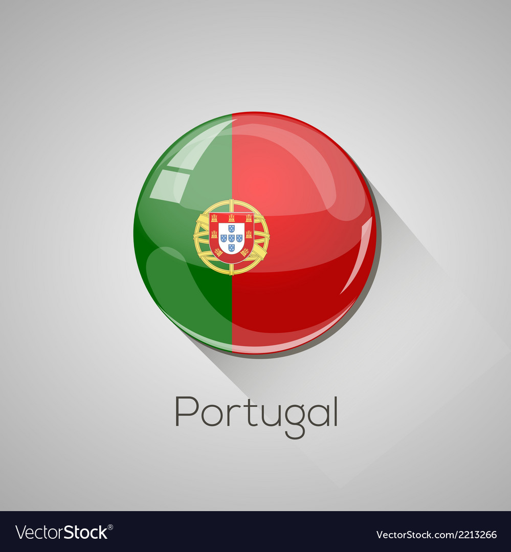 European flags set - portugal vector | Price: 1 Credit (USD $1)