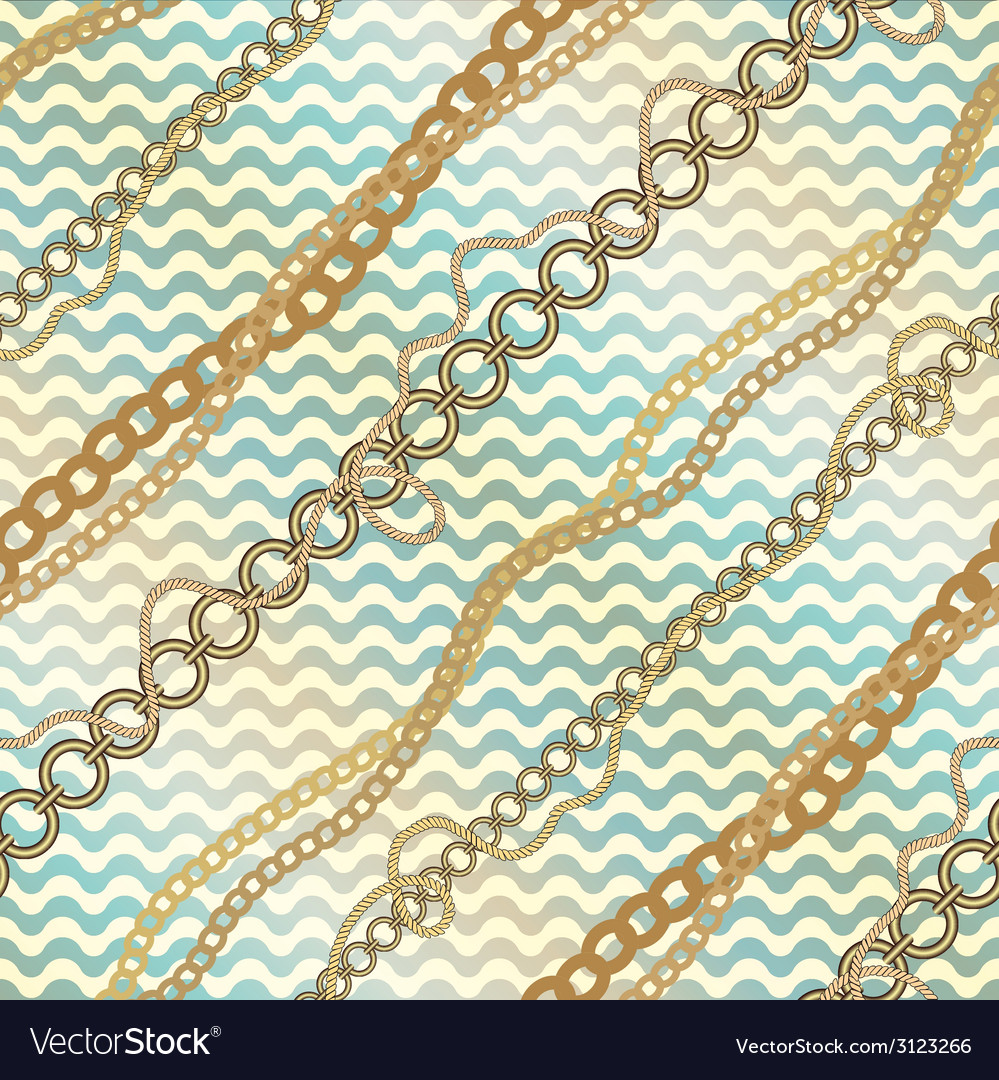 Nautical diagonal pattern on waves background vector | Price: 1 Credit (USD $1)