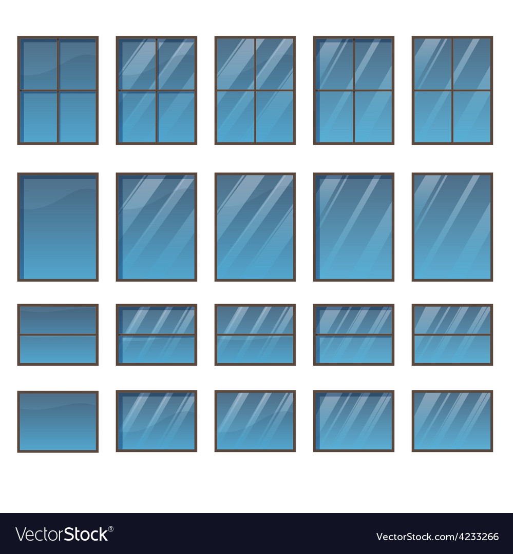 Set of different windows vector | Price: 1 Credit (USD $1)