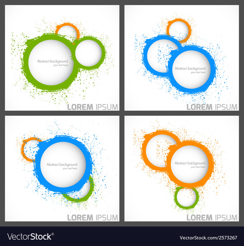 Abstract backgrounds with circles vector | Price: 1 Credit (USD $1)